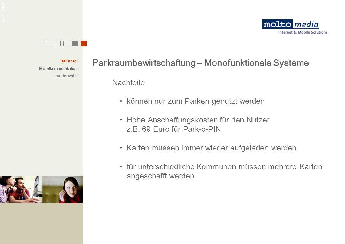 Parkraumbewirtschaftung – Monofunktionale Systeme