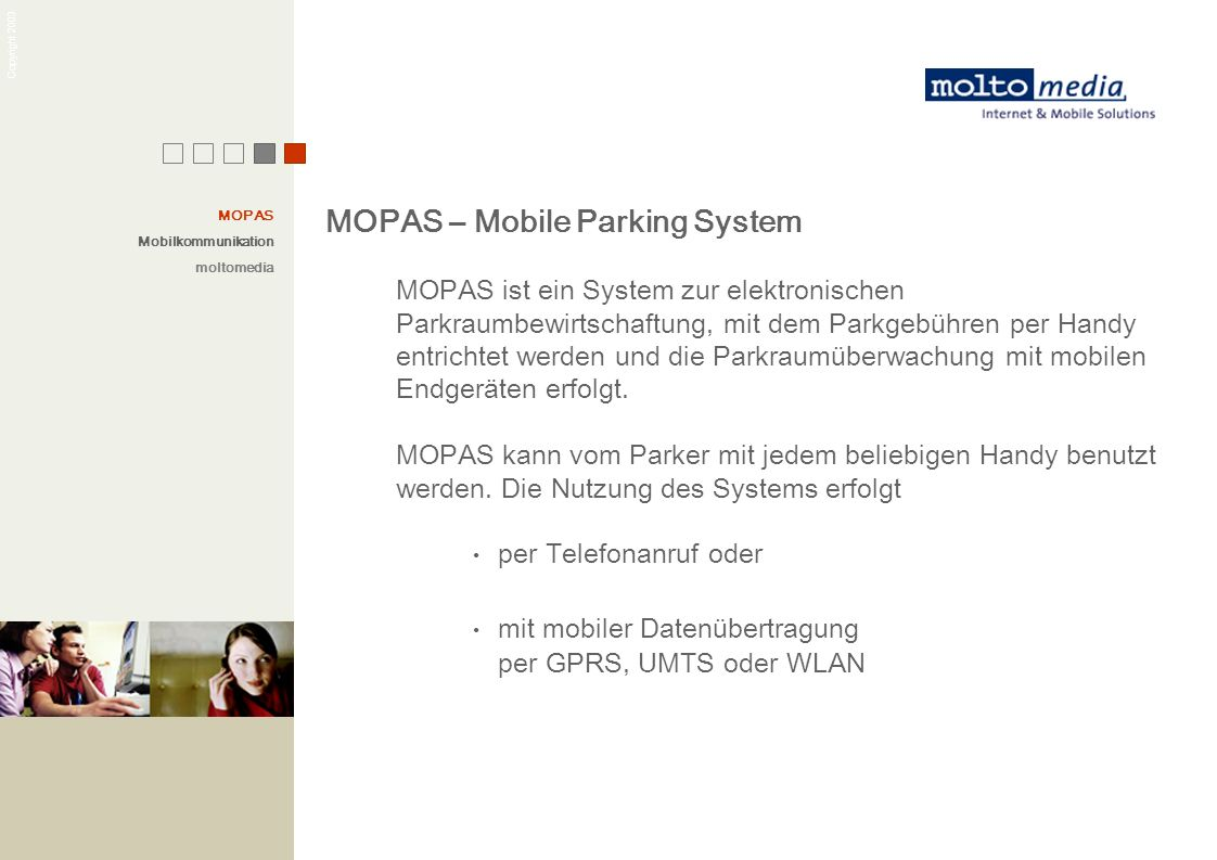 MOPAS – Mobile Parking System