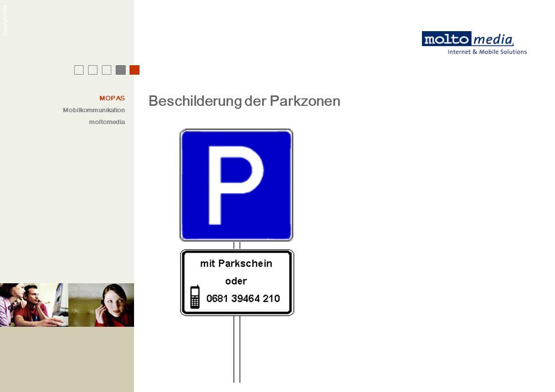 Beschilderung der Parkzonen