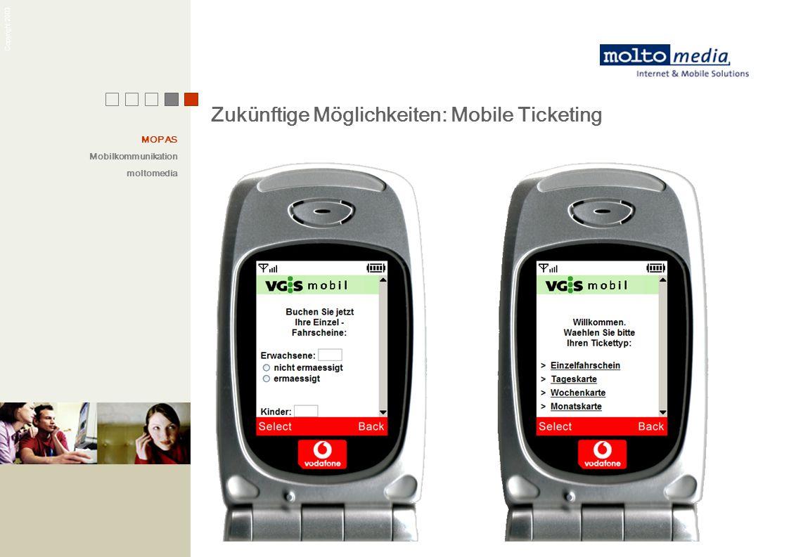 Zukünftige Möglichkeiten: Mobile Ticketing