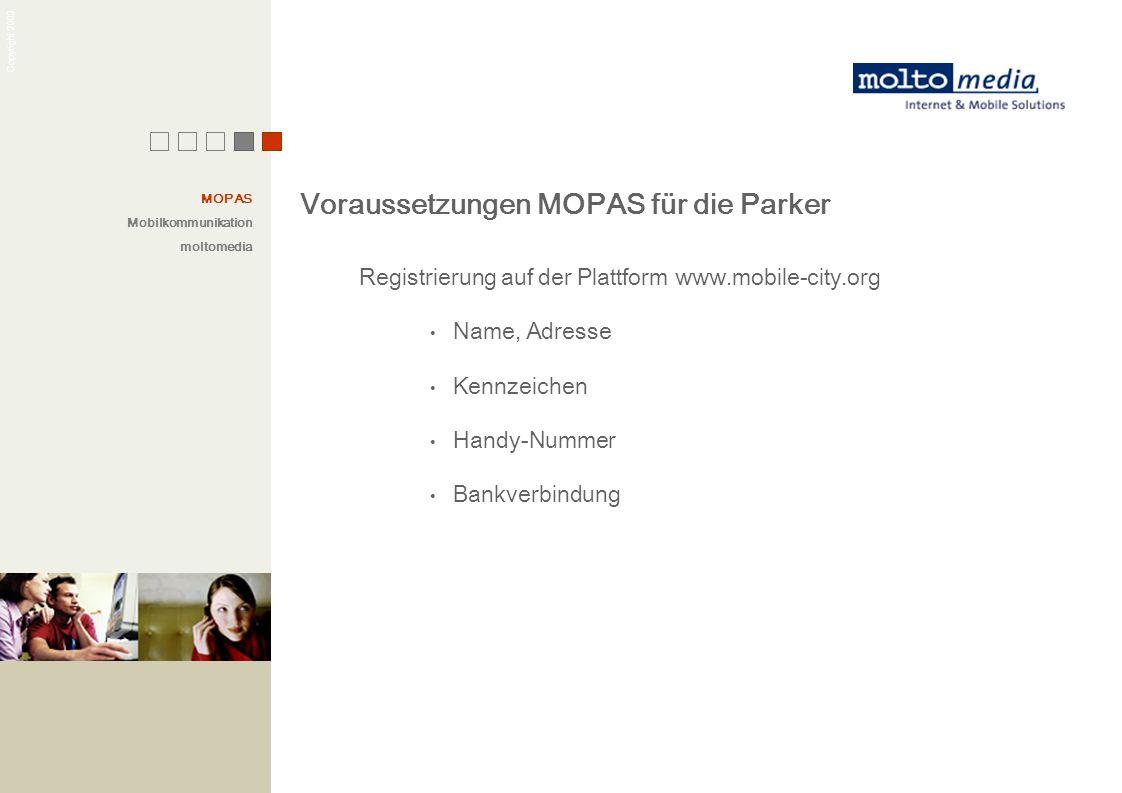 Voraussetzungen MOPAS für die Parker