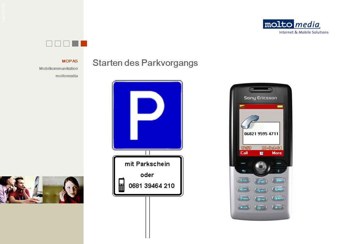 Starten des Parkvorgangs