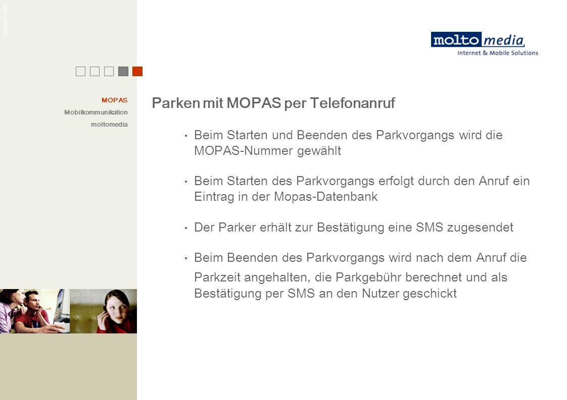 Parken mit MOPAS per Telefonanruf
