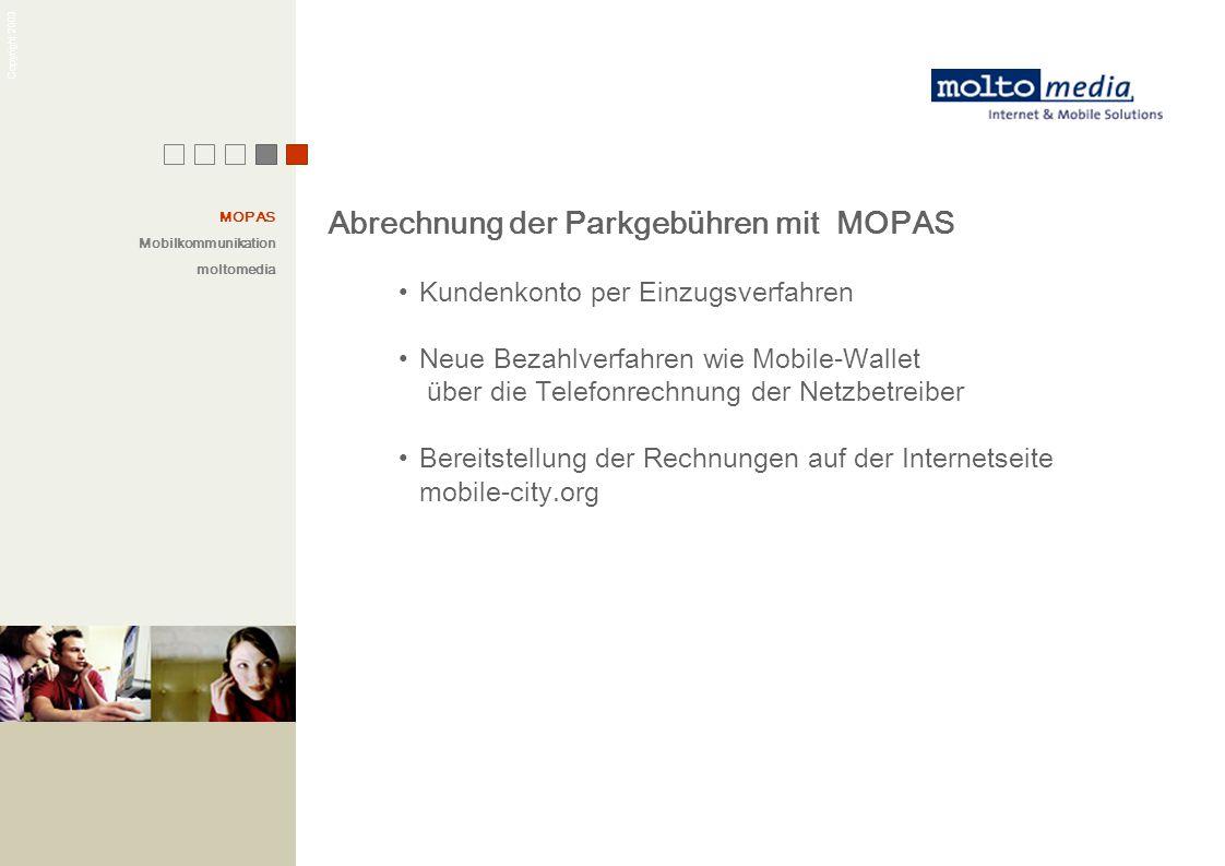 Abrechnung der Parkgebühren mit MOPAS