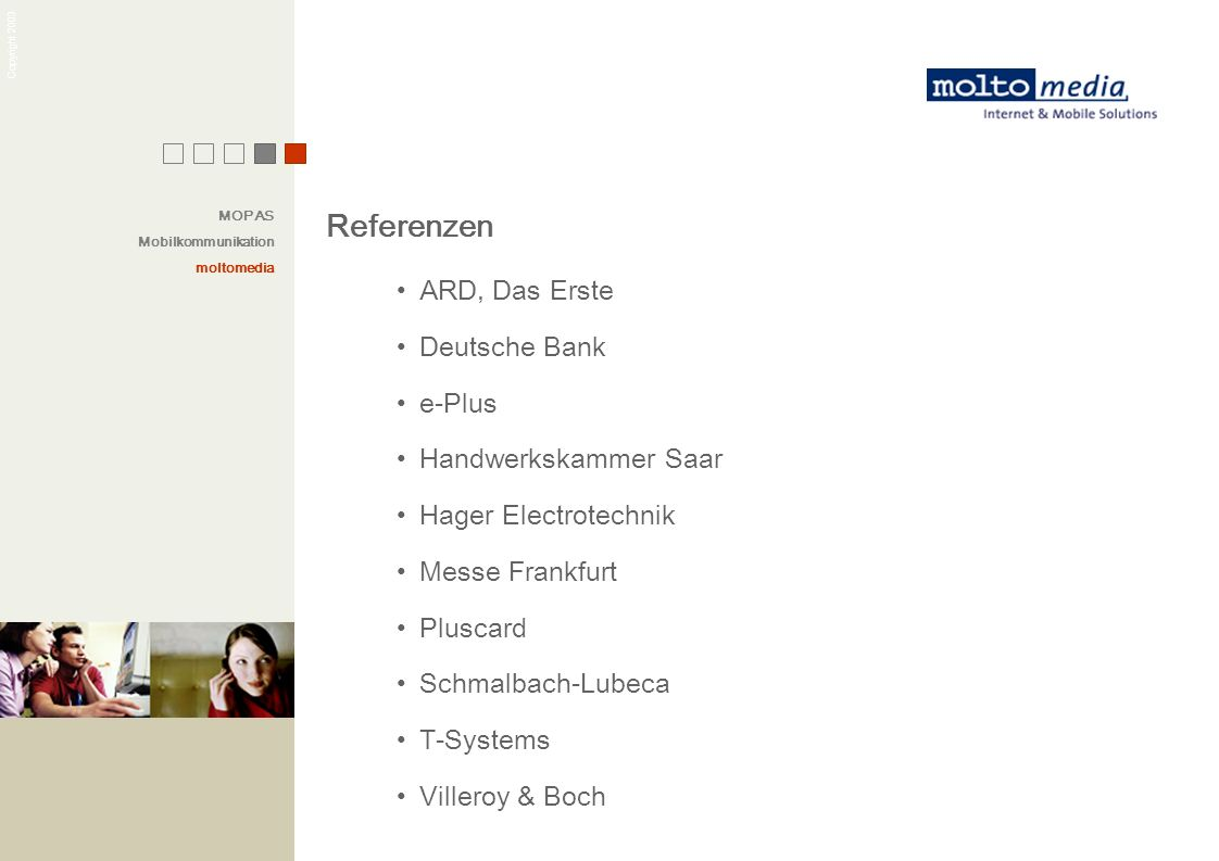 Referenzen ARD, Das Erste Deutsche Bank e-Plus Handwerkskammer Saar