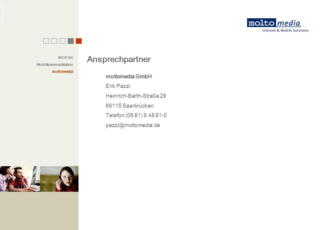 Ansprechpartner moltomedia GmbH Erik Pazzi Heinrich-Barth-Straße 29
