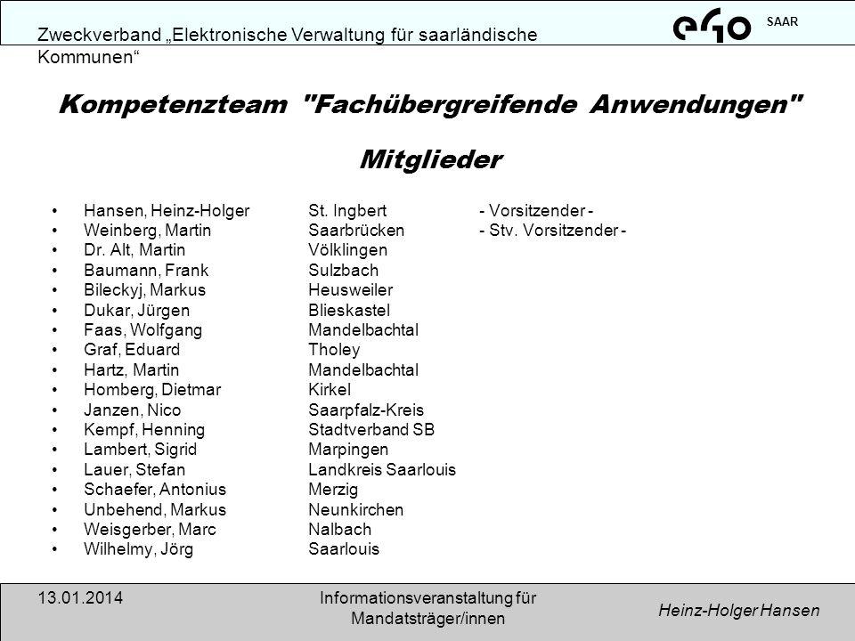 Kompetenzteam Fachübergreifende Anwendungen