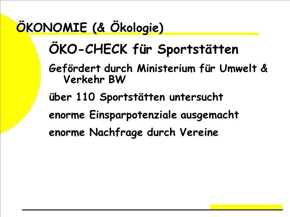 ÖKO-CHECK für Sportstätten