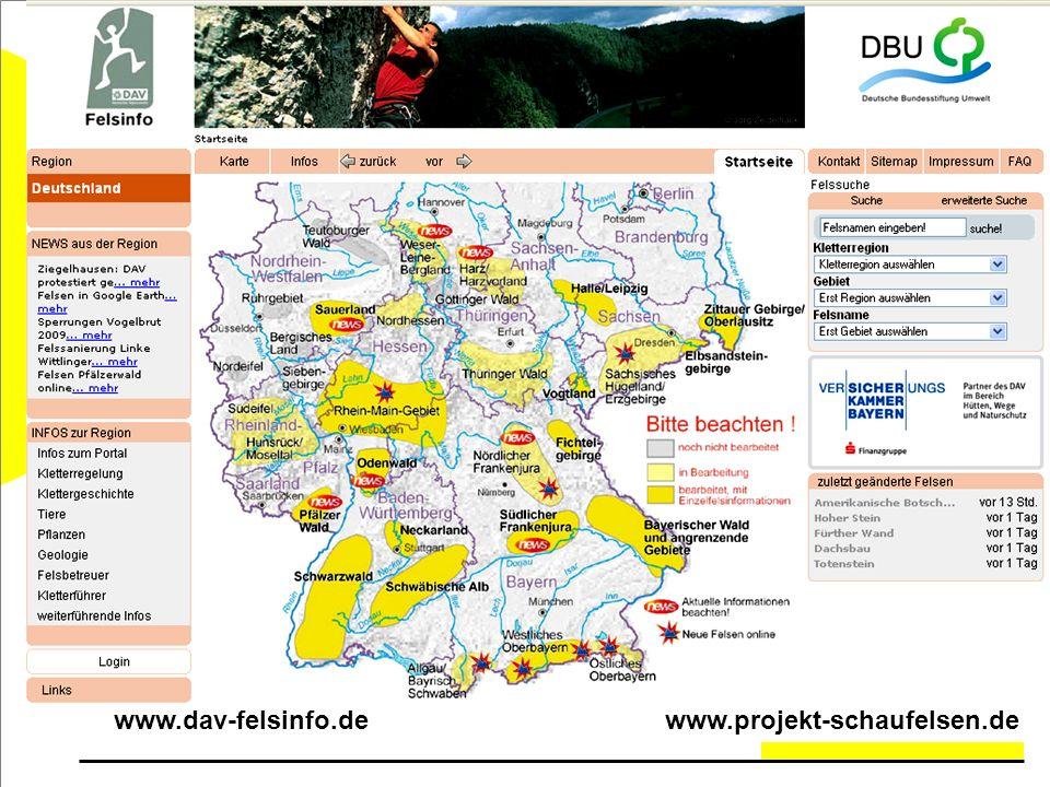 www.dav-felsinfo.de www.projekt-schaufelsen.de
