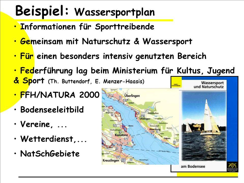 Beispiel: Wassersportplan