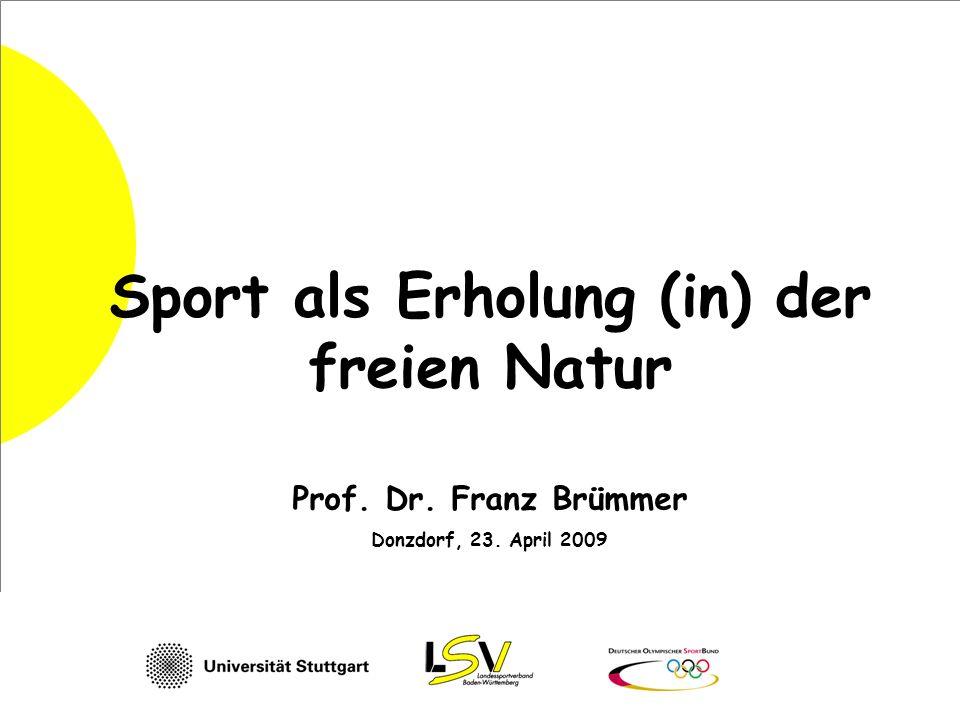 Sport als Erholung (in) der freien Natur