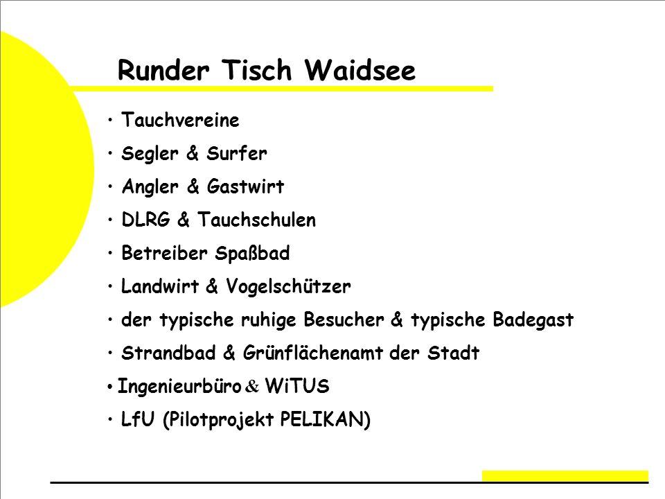 Runder Tisch Waidsee Tauchvereine Segler & Surfer Angler & Gastwirt