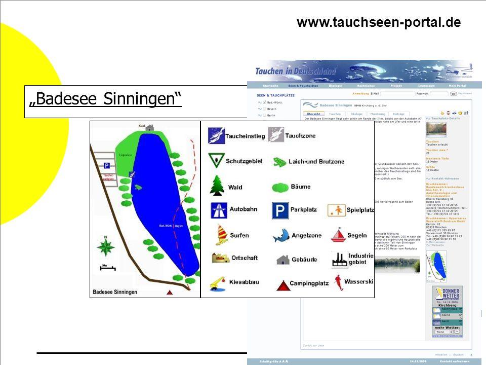 """www.tauchseen-portal.de """"Badesee Sinningen"""
