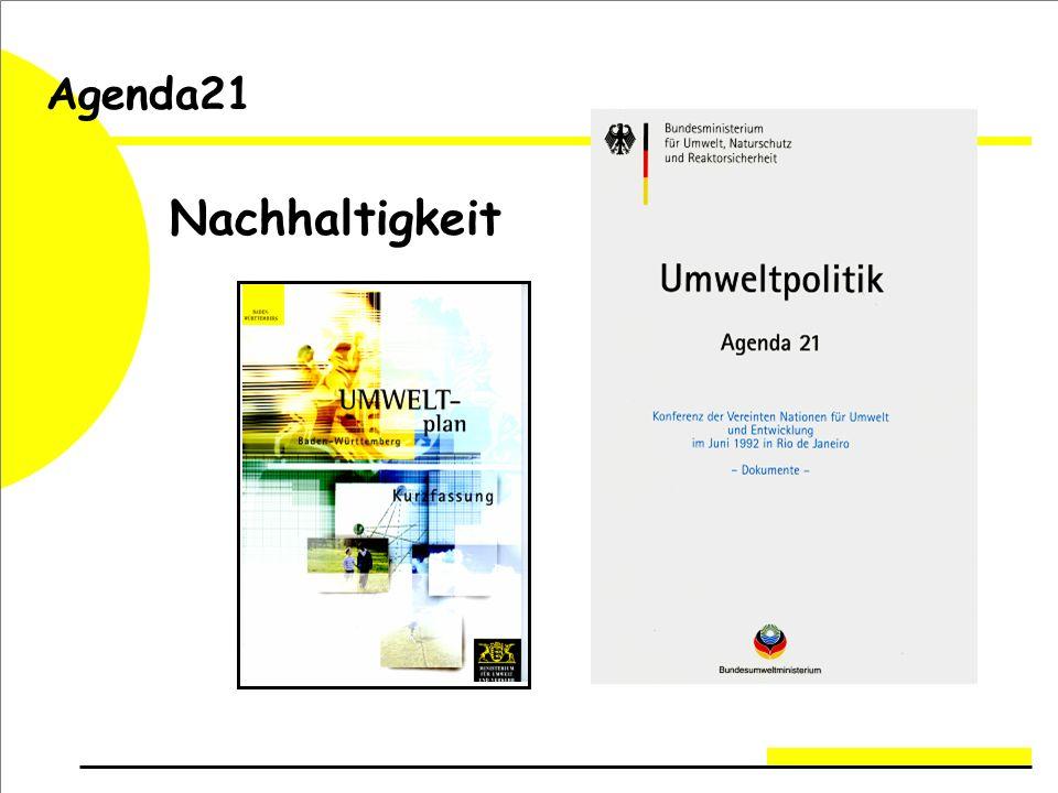 Agenda21 Nachhaltigkeit