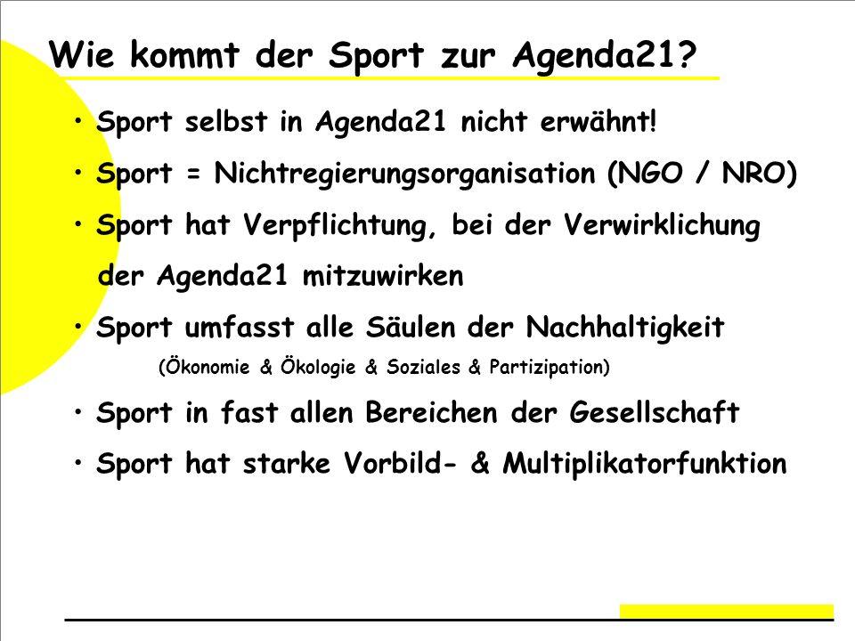 Wie kommt der Sport zur Agenda21