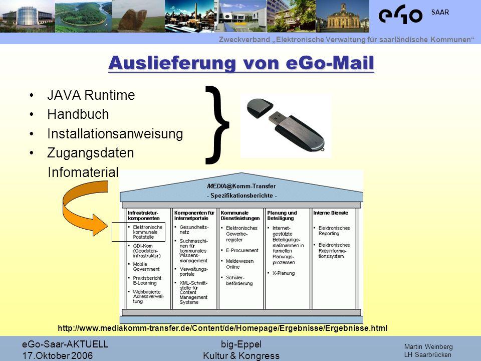 Auslieferung von eGo-Mail