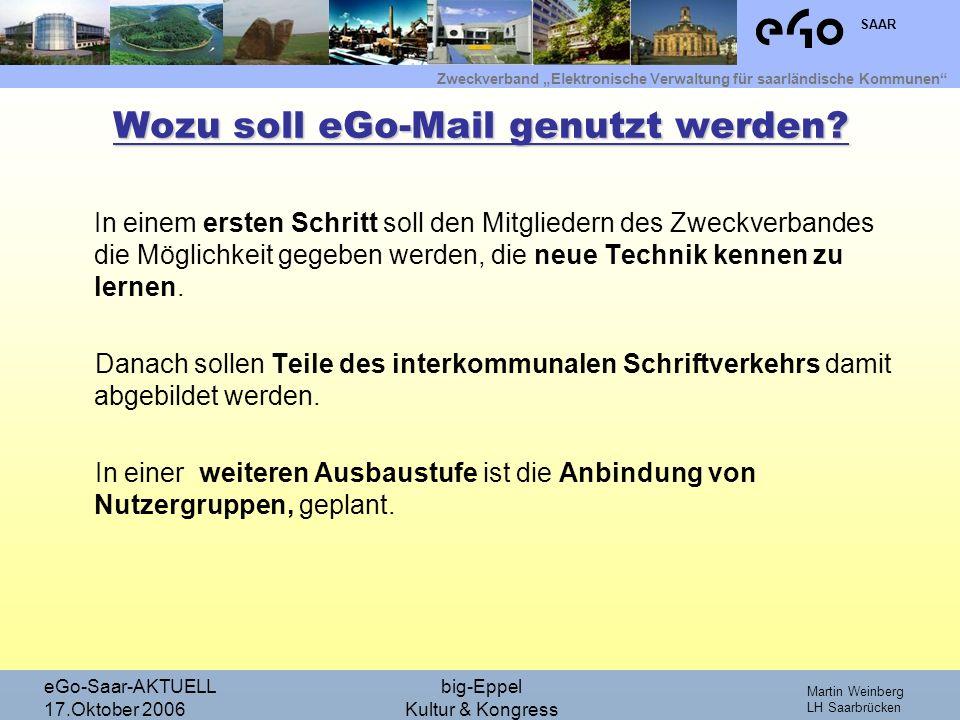Wozu soll eGo-Mail genutzt werden