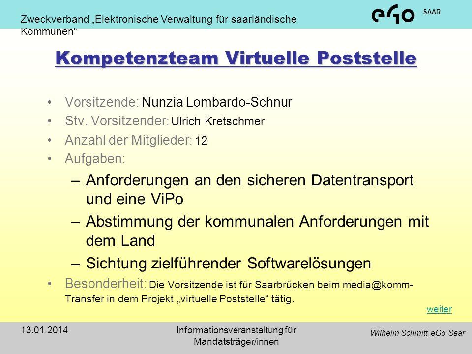 Kompetenzteam Virtuelle Poststelle