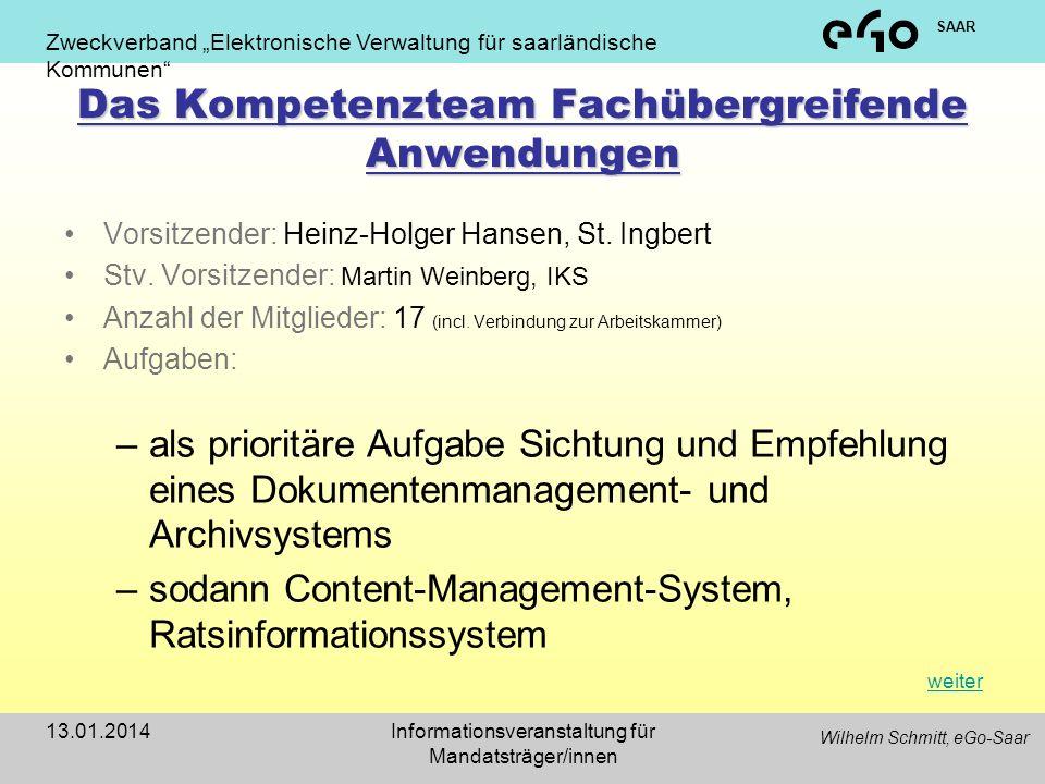 Das Kompetenzteam Fachübergreifende Anwendungen