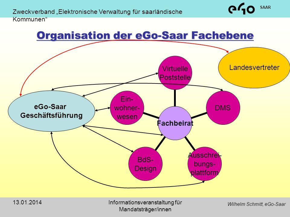 Organisation der eGo-Saar Fachebene