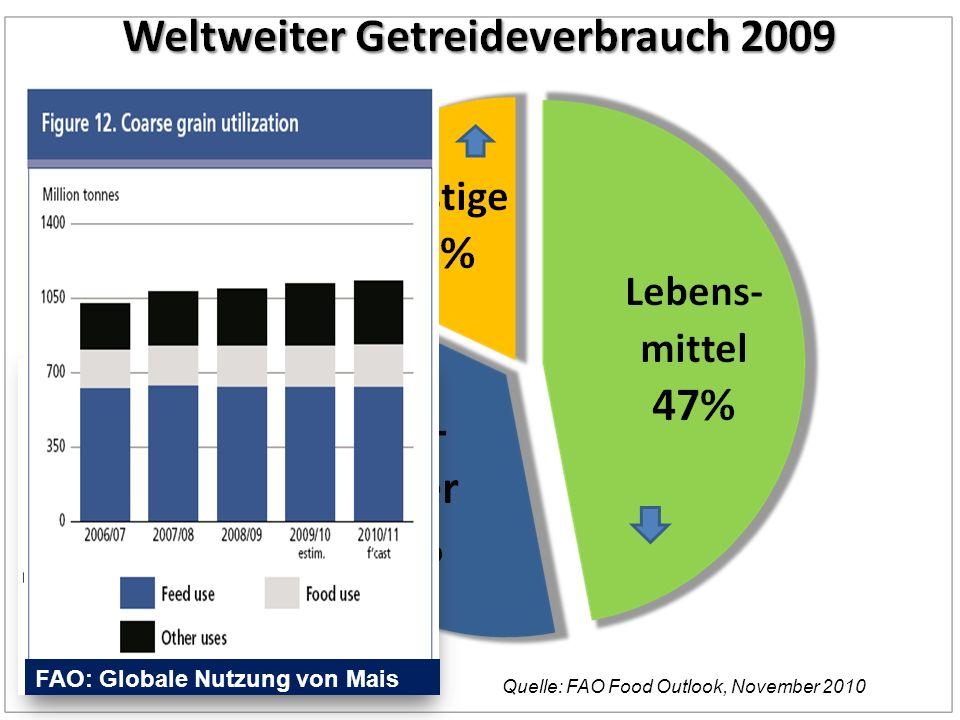 FAO: Globale Nutzung von Mais EU 2005