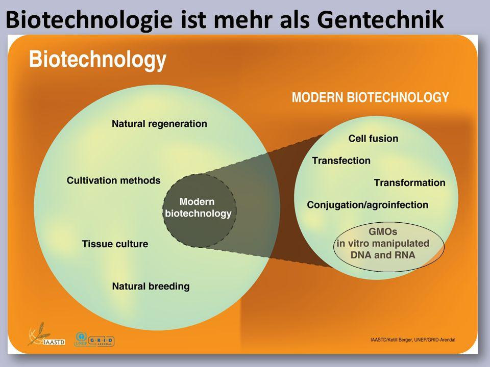 Biotechnologie ist mehr als Gentechnik
