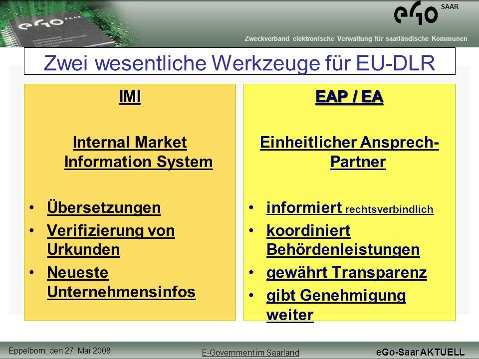Zwei wesentliche Werkzeuge für EU-DLR