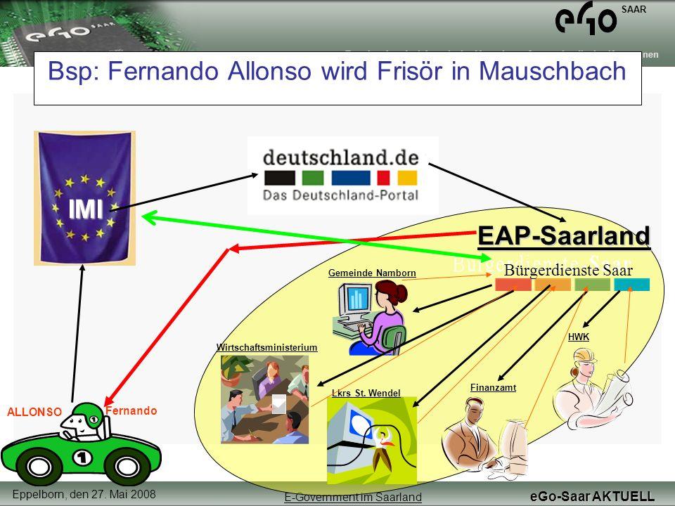 Bsp: Fernando Allonso wird Frisör in Mauschbach