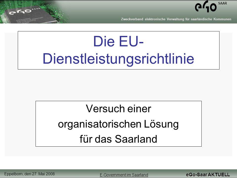 Die EU-Dienstleistungsrichtlinie