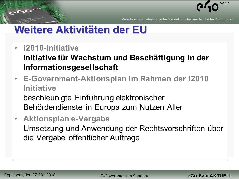 Weitere Aktivitäten der EU