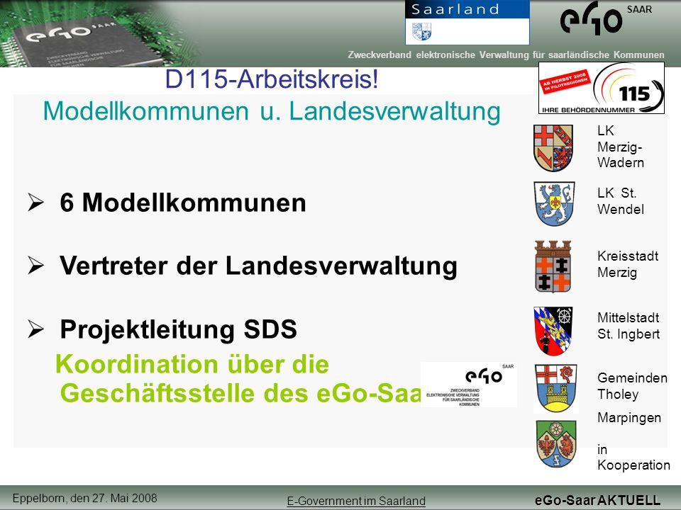 D115-Arbeitskreis! Modellkommunen u. Landesverwaltung