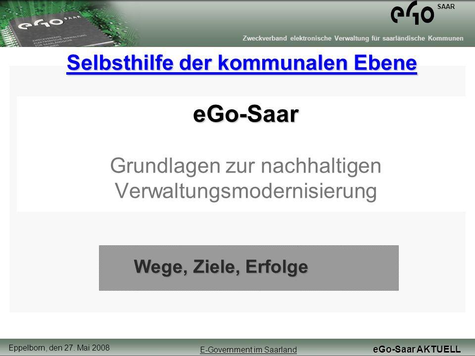 eGo-Saar Grundlagen zur nachhaltigen Verwaltungsmodernisierung