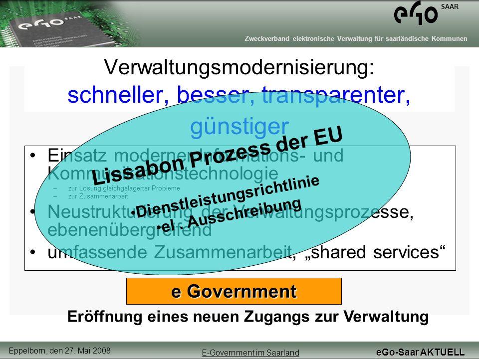 Verwaltungsmodernisierung: schneller, besser, transparenter, günstiger