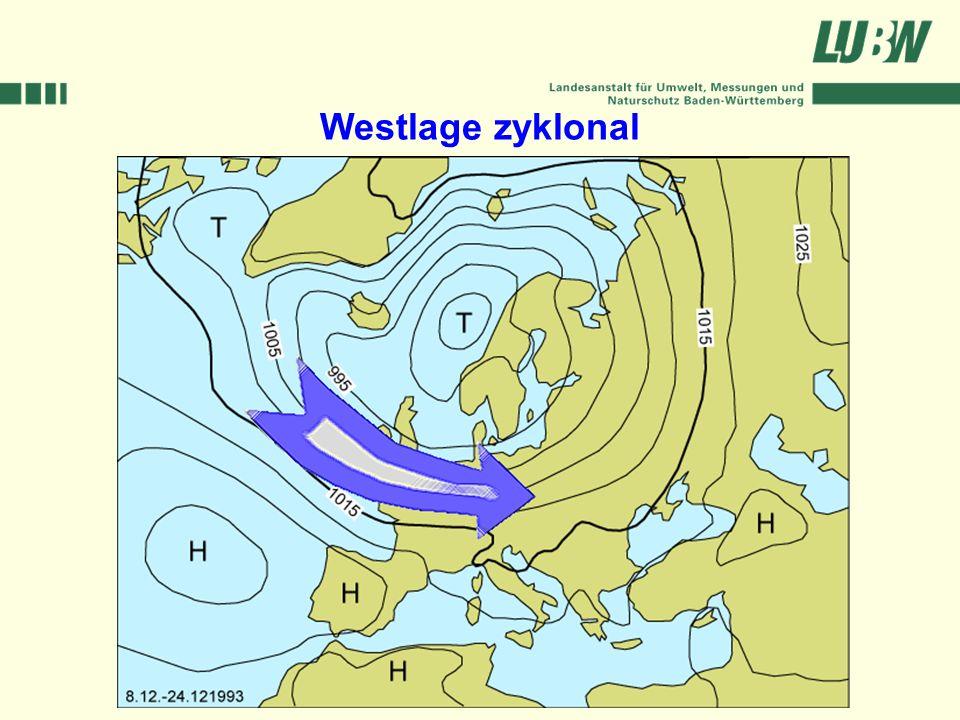 Westlage zyklonal Klimawandel und Hochwasser im Südwesten