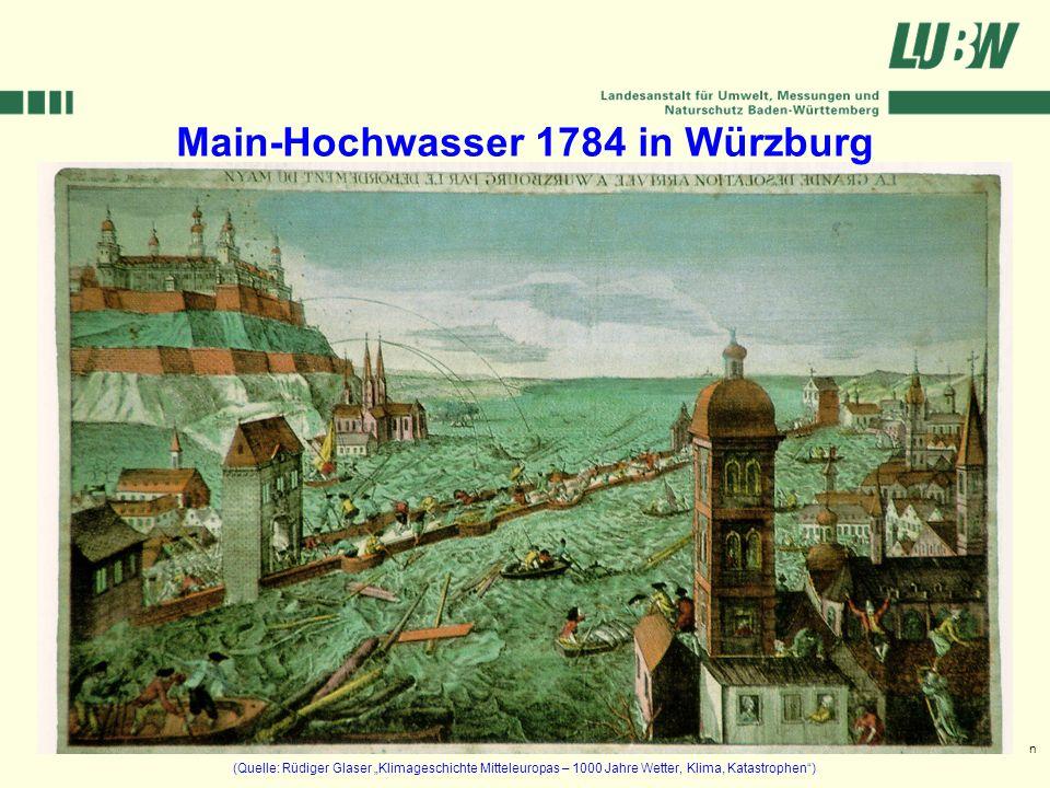 Main-Hochwasser 1784 in Würzburg