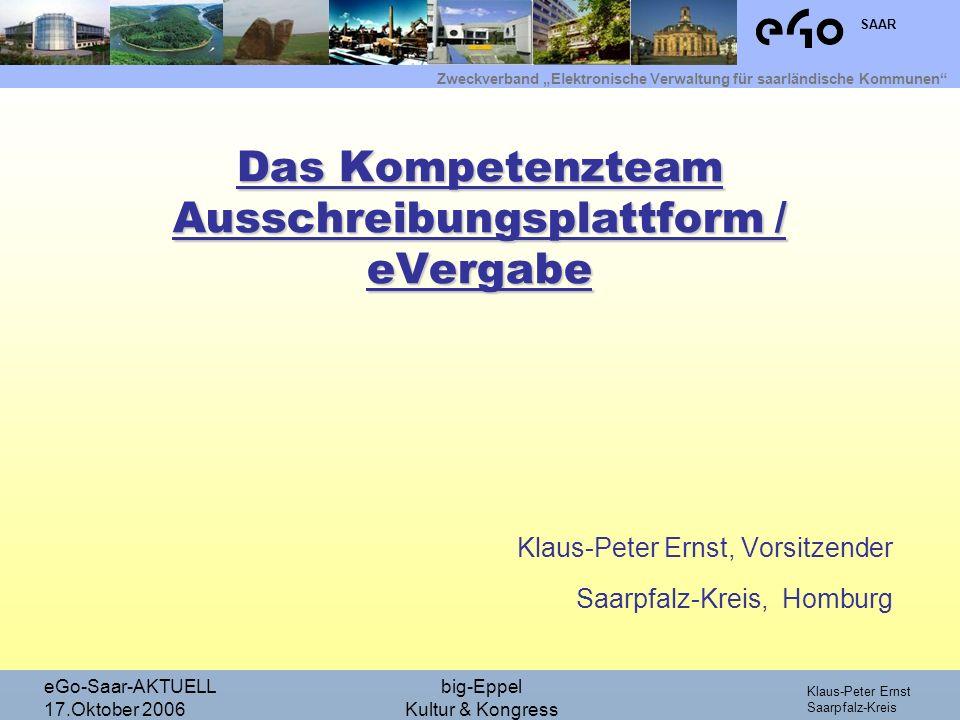 Das Kompetenzteam Ausschreibungsplattform / eVergabe