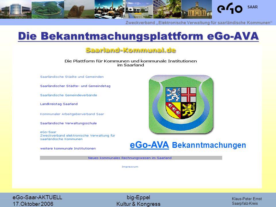 Die Bekanntmachungsplattform eGo-AVA