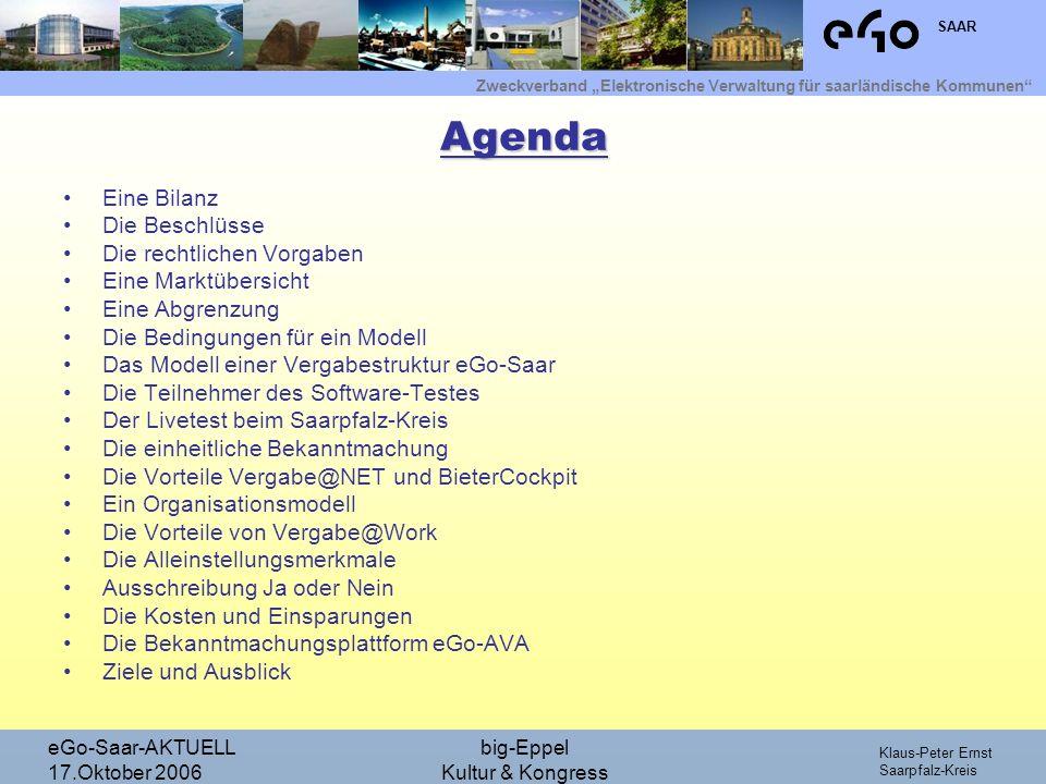 Agenda Eine Bilanz Die Beschlüsse Die rechtlichen Vorgaben