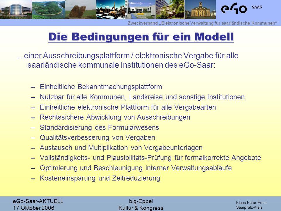 Die Bedingungen für ein Modell