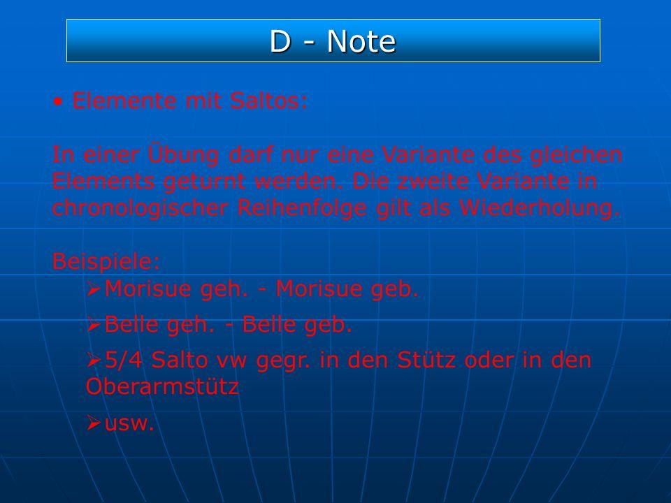 D - Note Elemente mit Saltos: