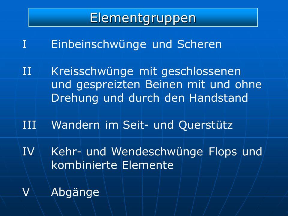 Elementgruppen I Einbeinschwünge und Scheren