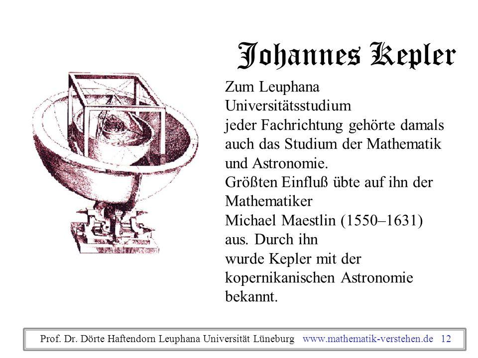 Johannes Kepler Zum Leuphana Universitätsstudium