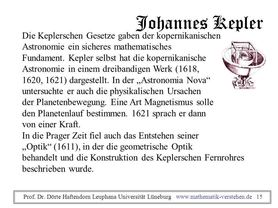 Johannes Kepler Die Keplerschen Gesetze gaben der kopernikanischen