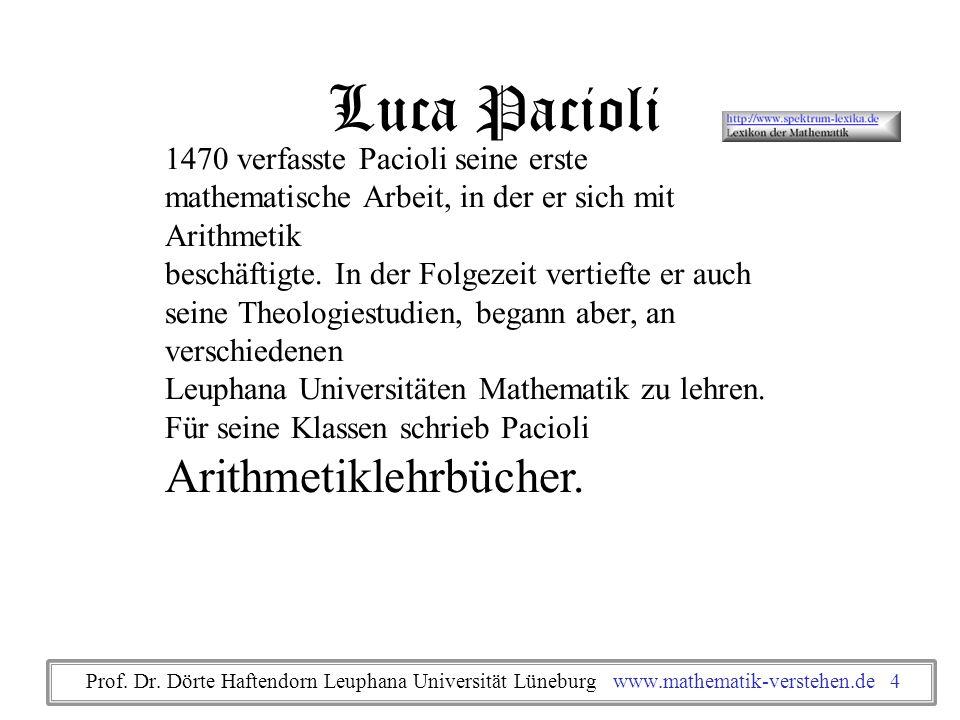 Luca Pacioli 1470 verfasste Pacioli seine erste