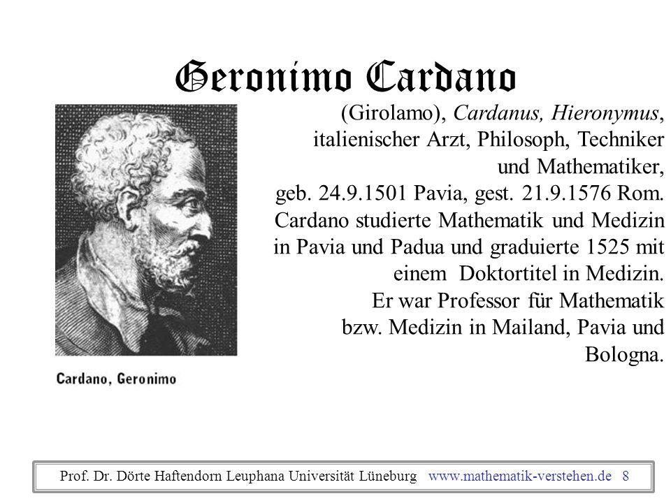 Geronimo Cardano (Girolamo), Cardanus, Hieronymus,