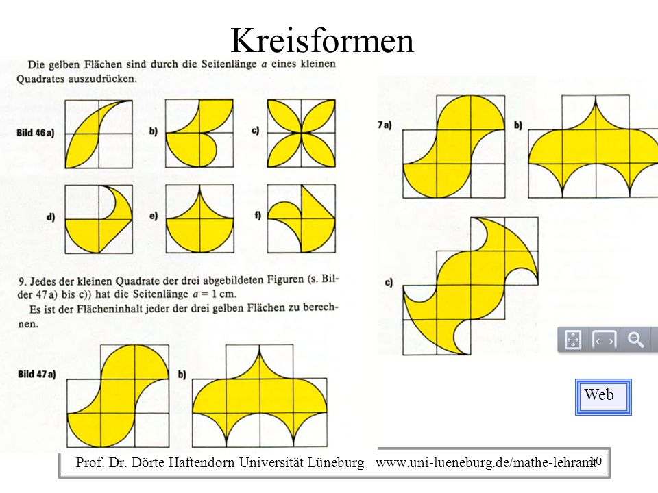 Kreisformen Web. Prof. Dr.