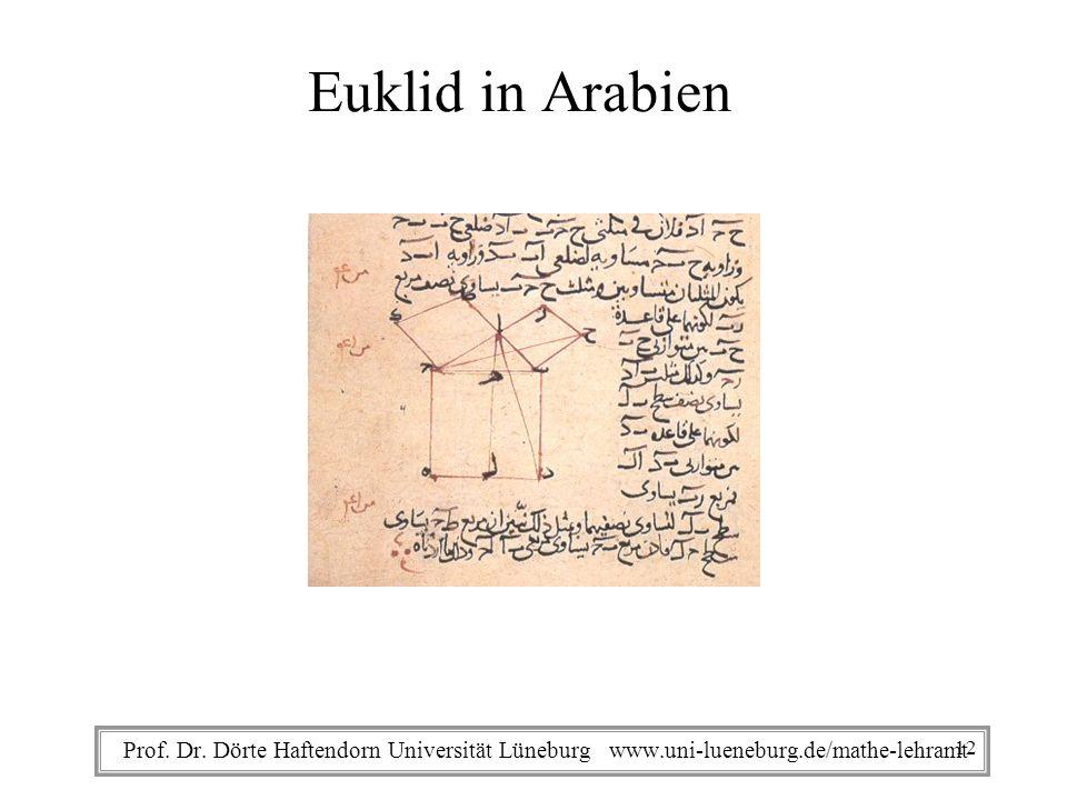Euklid in Arabien Prof. Dr.