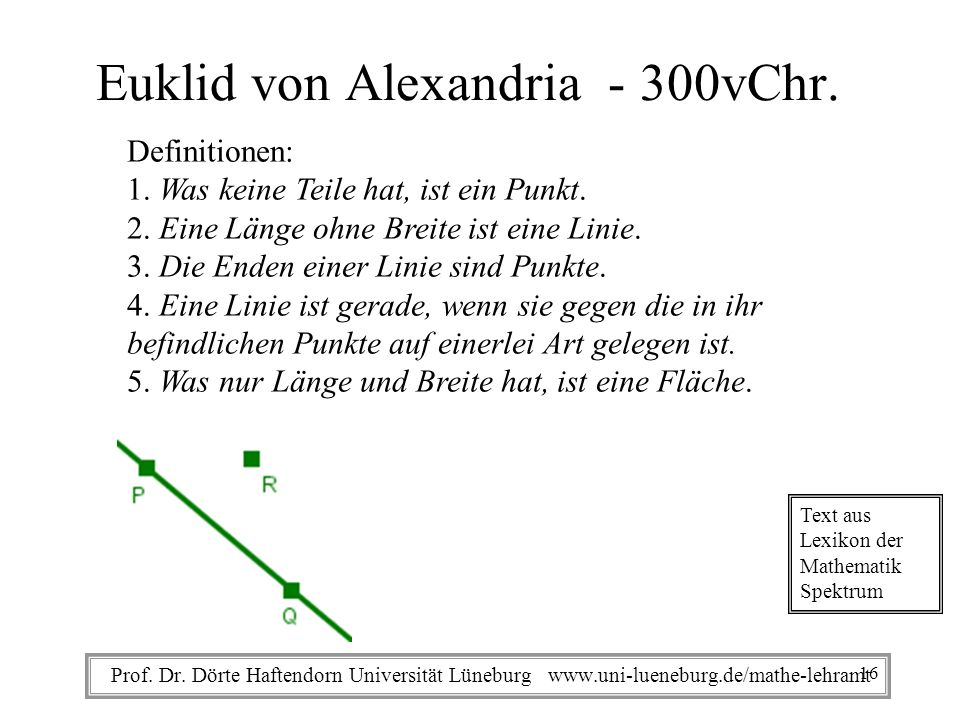 Euklid von Alexandria - 300vChr.