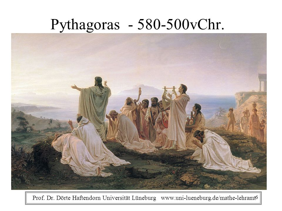 Pythagoras - 580-500vChr. Prof. Dr.