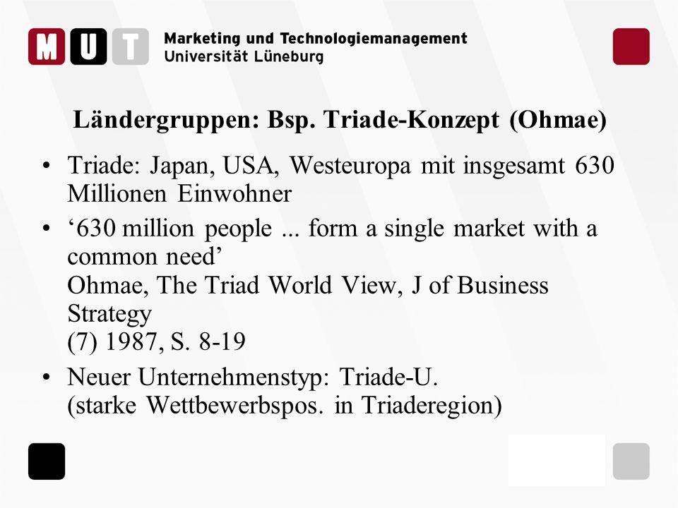 Ländergruppen: Bsp. Triade-Konzept (Ohmae)